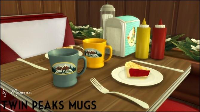 Twin Peaks Mugs At Martine S Simblr 187 Sims 4 Updates