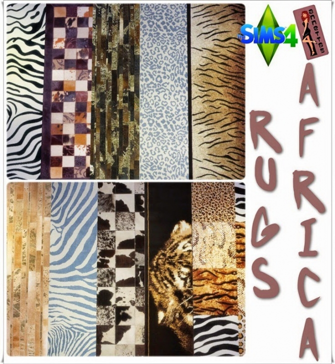 Africa rugs at Annett's Sims 4 Welt image 2153 Sims 4 Updates