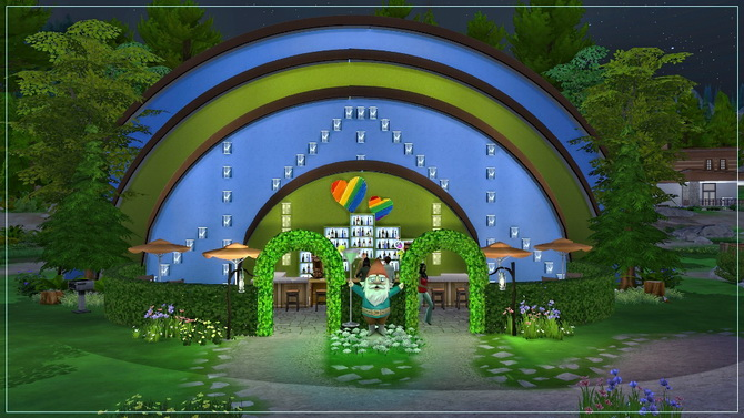 Sims 4 Invites Gnome night club by fatalist at ihelensims