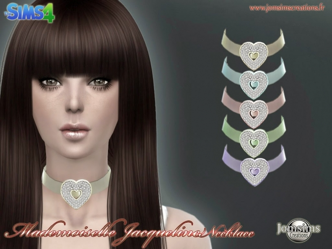 Sims 4 Mademoiselle Jacqueline earrings and necklace at Jomsims Creations