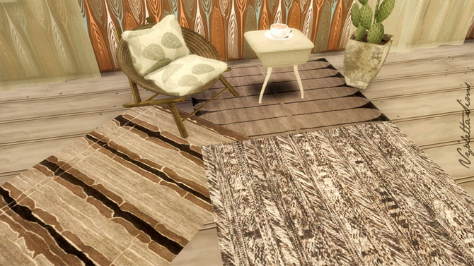 9 Rugs earth colors at Mandarina's Sim World image 2202 Sims 4 Updates