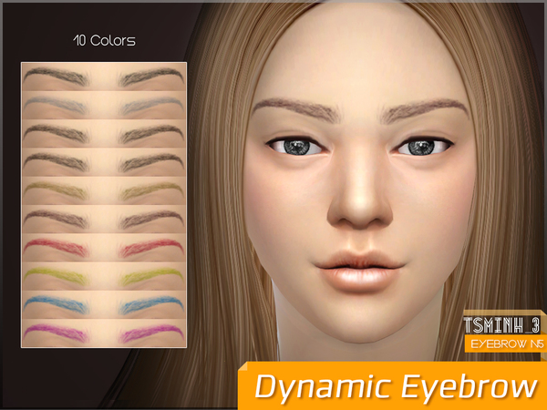 Dynamic Eyebrows by tsminh 3 at TSR image 2226 Sims 4 Updates