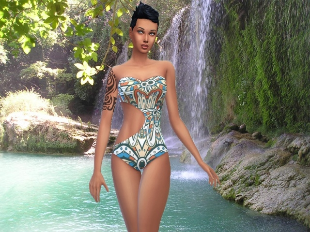 AZTEC swimsuit by Milia at Sims Artists image 2228 Sims 4 Updates