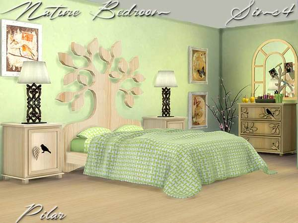 Nature bedroom by pilar at tsr sims 4 updates Nature bedroom