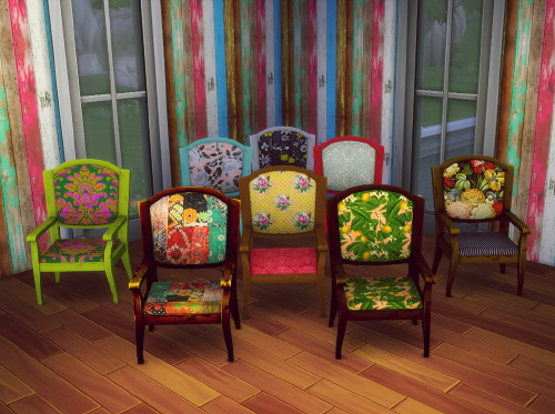 Sims 4 Base game chair recolors at Simpothecary