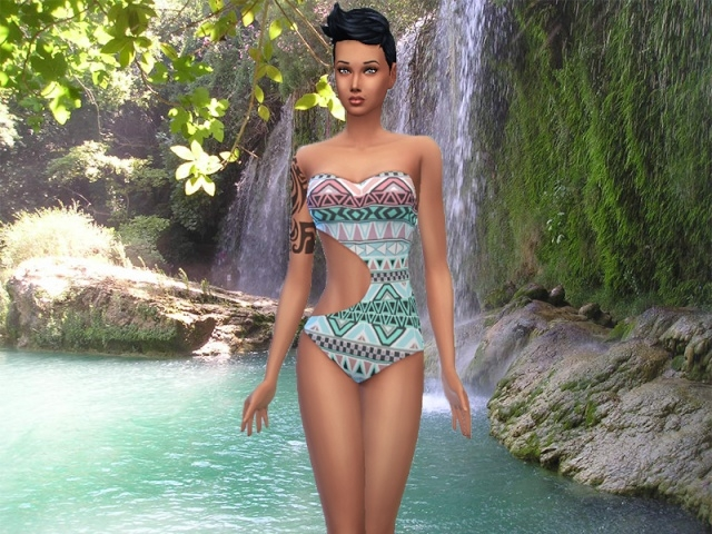 AZTEC swimsuit by Milia at Sims Artists image 2246 Sims 4 Updates
