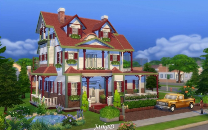 Sims 4 Family House No.5 at JarkaD Sims 4 Blog