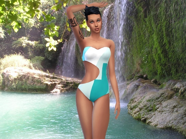 AZTEC swimsuit by Milia at Sims Artists image 2265 Sims 4 Updates