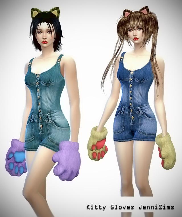Sims 4 Kitty Gloves at Jenni Sims