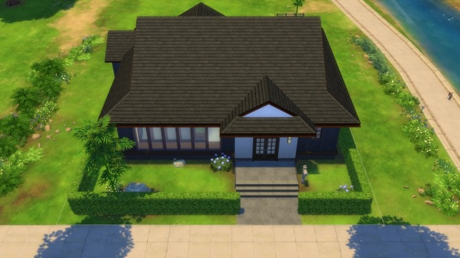 japanese style house 20 by masaharu777 at mod the sims sims 4 updates. Black Bedroom Furniture Sets. Home Design Ideas
