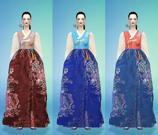 Korean Traditional Costumes Han Bok Set At Marigold 187 Sims