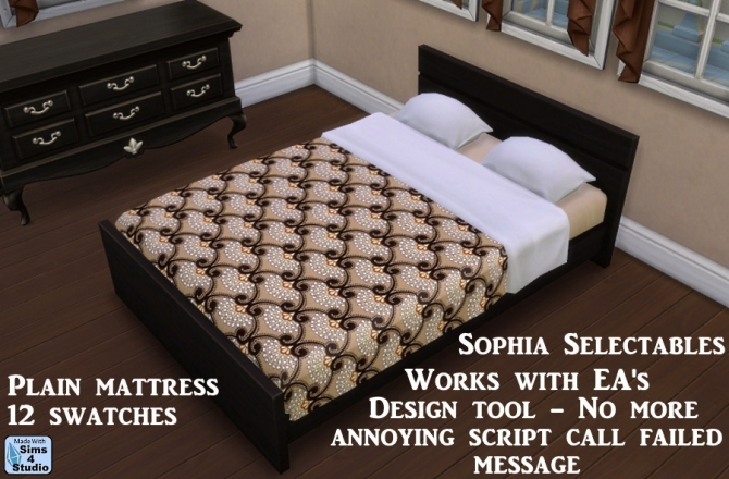 Sophia Selectables: Mattress   works with design tool at Sims 4 Studio image 2325 Sims 4 Updates