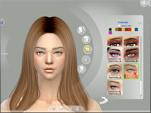 Sims 4 Dynamic Eyebrows by tsminh 3 at TSR