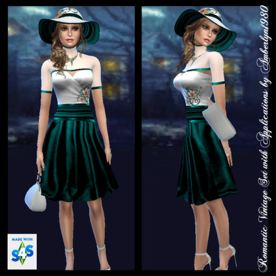 Romantic Vintage Set + Necklace at Amberlyn Designs image 2341 Sims 4 Updates
