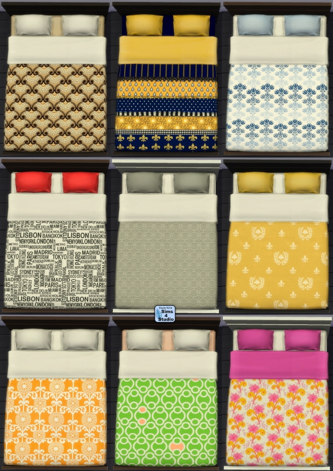 Sims 4 Sophia Selectables: Mattress   works with design tool at Sims 4 Studio