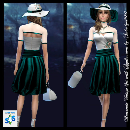 Romantic Vintage Set + Necklace at Amberlyn Designs image 2351 Sims 4 Updates