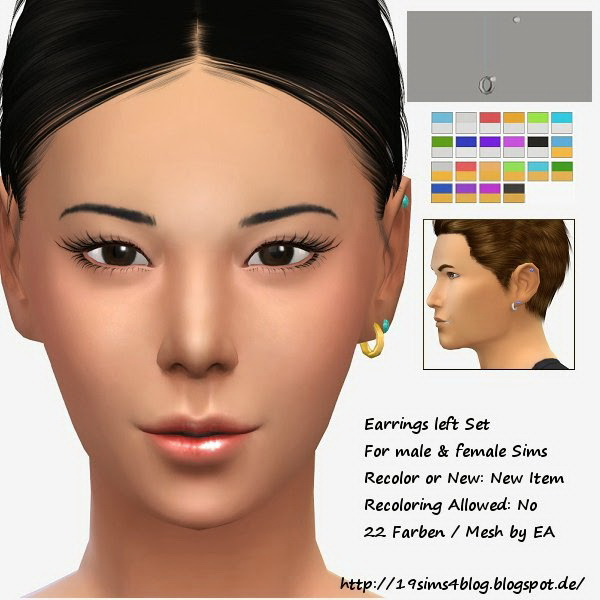 Left earrings set at 19 Sims 4 Blog image 2383 Sims 4 Updates