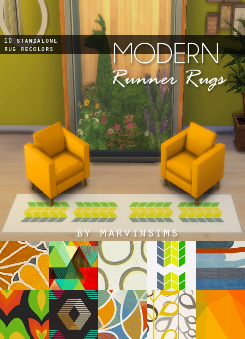 Sims 4 Modern Runner Rug at Marvin Sims