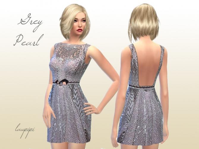 Grey Pearl Dress at Laupipi image 24121 Sims 4 Updates