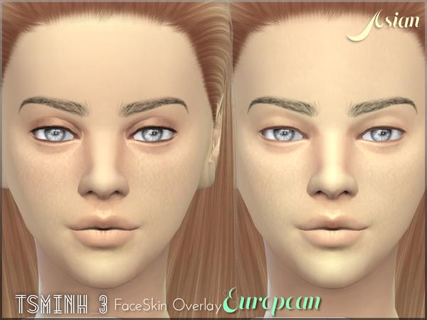 Sims 4 European FaceSkin Overlay by tsminh 3 at TSR
