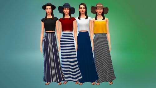 Sims 4 High Waisted Maxi Skirts at Marvin Sims
