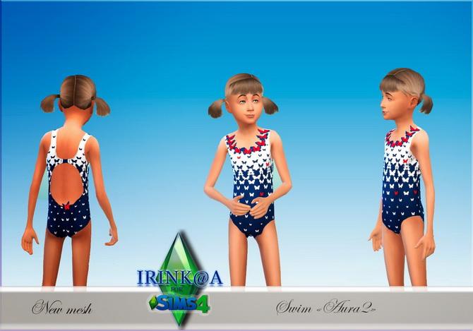Sims 4 Aura swim set at Irinka