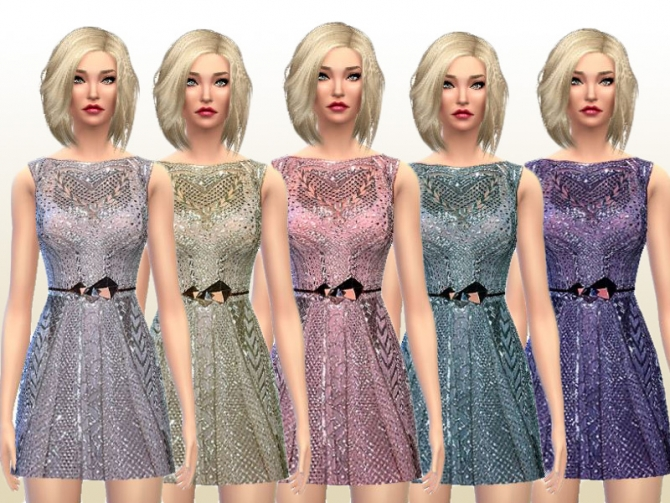 Grey Pearl Dress at Laupipi image 2511 Sims 4 Updates