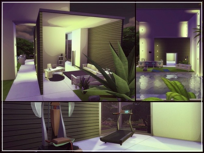 Sims 4 NIGHT GARDEN HOUSE at Anamo Sims