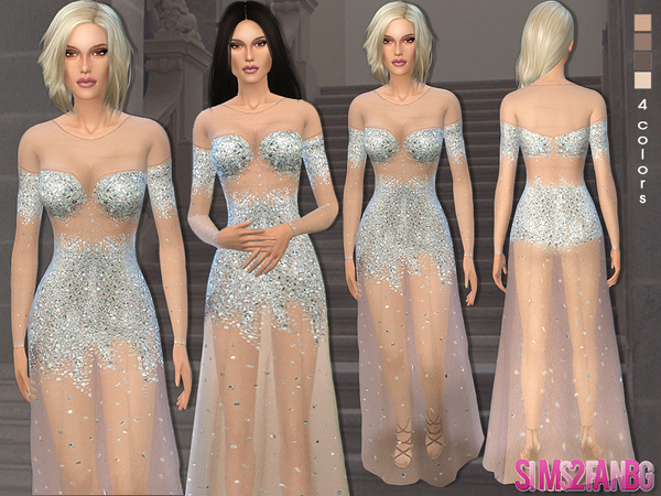Sims 4 Tulle prom gown by sims2fanbg at TSR