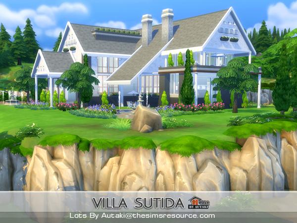 Sims 4 Sutida villa by Autaki at TSR