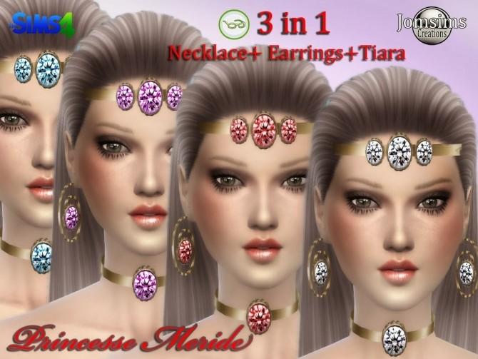 Sims 4 3 in 1 Princess Meride Jewellery at Jomsims Creations