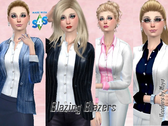 Blazing Blazers by mayasims at Mod The Sims image 26171 670x503 Sims 4 Updates