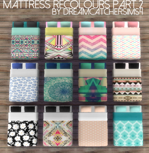 Sims 4 Sophia Mattress Recolours Pt 2 at DreamCatcherSims4