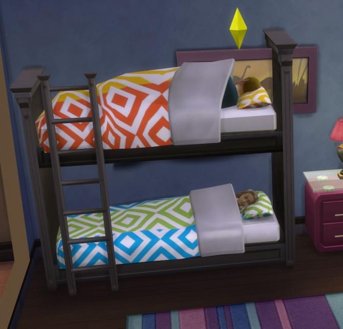 Bunk Beds Sims 4 CC 670 x 641