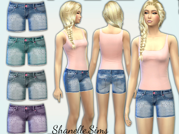 Sims 4 Denim Shorts by shanelle sims at TSR
