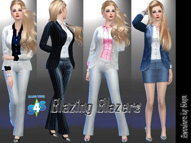 Blazing Blazers by mayasims at Mod The Sims image 27151 670x503 Sims 4 Updates