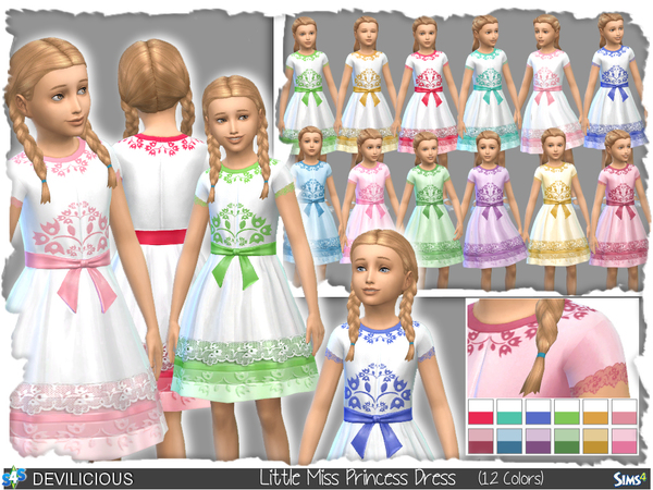 Little Miss Princess Dress by Devilicious at TSR image 28 Sims 4 Updates
