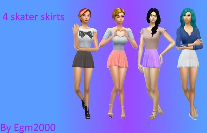 Skater Skirt by EGM2000 at Mod The Sims image 28131 670x431 Sims 4 Updates
