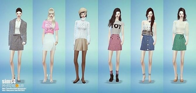 Sims 4 Mini skirt set at Marigold