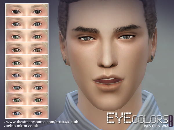Sims 4 Eyecolor 08 by S Club WM at TSR