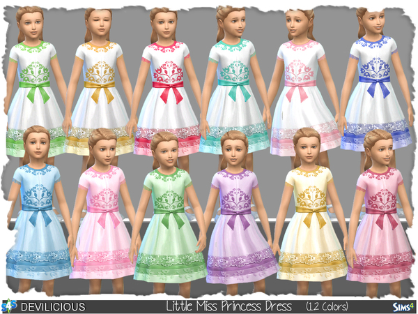 Little Miss Princess Dress by Devilicious at TSR image 29 Sims 4 Updates