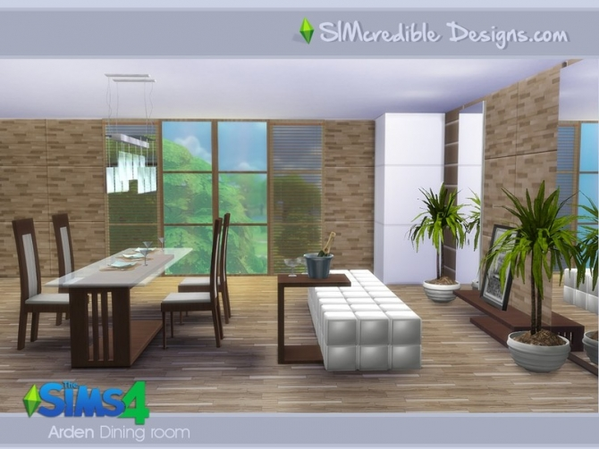 Sims 4 Arden Dining Room by SIMcredible! at TSR