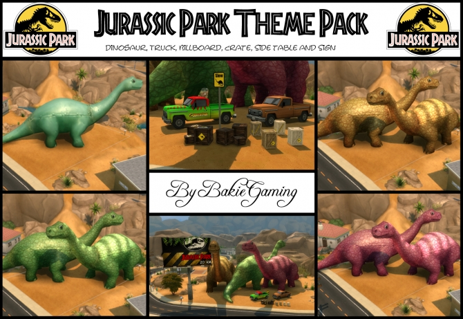 Sims 4 Jurassic Park objects by Bakie at Mod The Sims