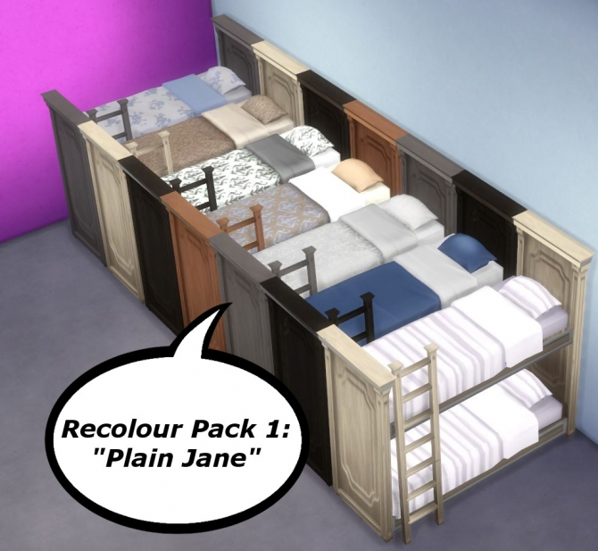 Functional Bunk Bed By Uglybreath At Mod The Sims Sims