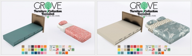 Sims 4 Grove Furniture Collection Separated Bedding and Bed Frames at Simsational Designs