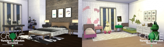 Grove Furniture Collection Separated Bedding and Bed Frames at Simsational Designs image 307 Sims 4 Updates