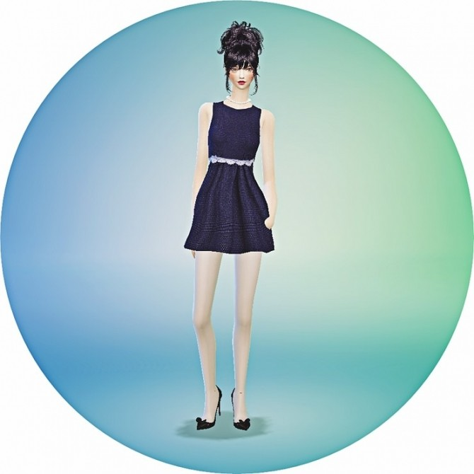 Sims 4 Lace point onepiece at Marigold
