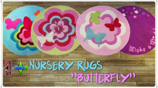 Butterfly Nursery Rugs at Annett's Sims 4 Welt image 3112 Sims 4 Updates