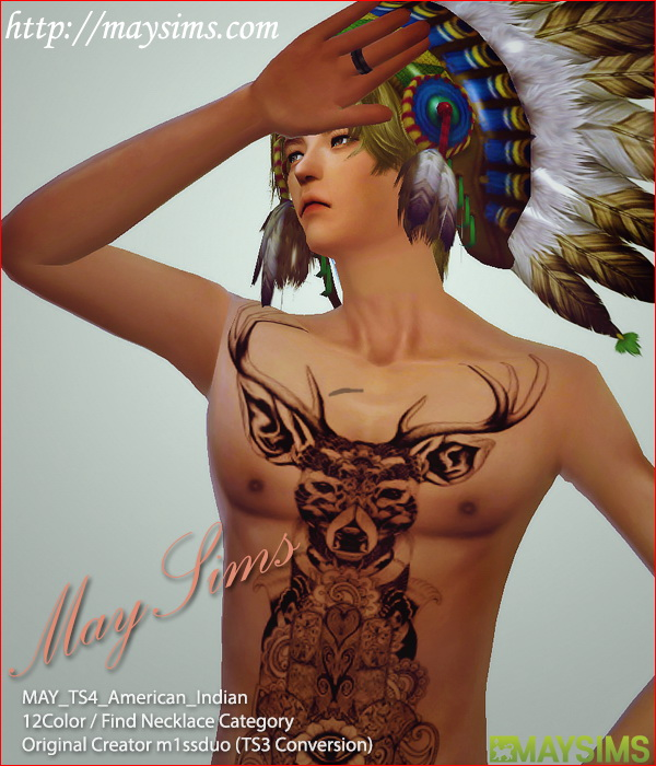 American Indian Head Accessory At May Sims 187 Sims 4 Updates