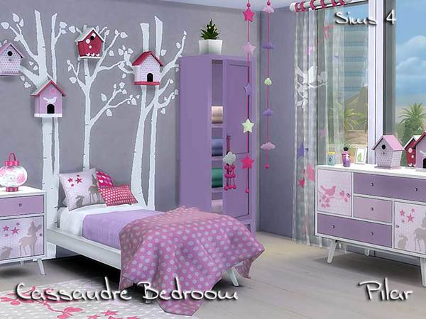 Cassandre Bedroom S4 By Pilar At Tsr 187 Sims 4 Updates